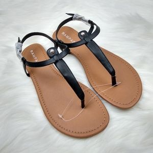NEW Rampage Pashmina Ankle Strap T Bar Sandals